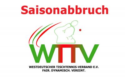 Saison im WTTV und DTTB annuliert